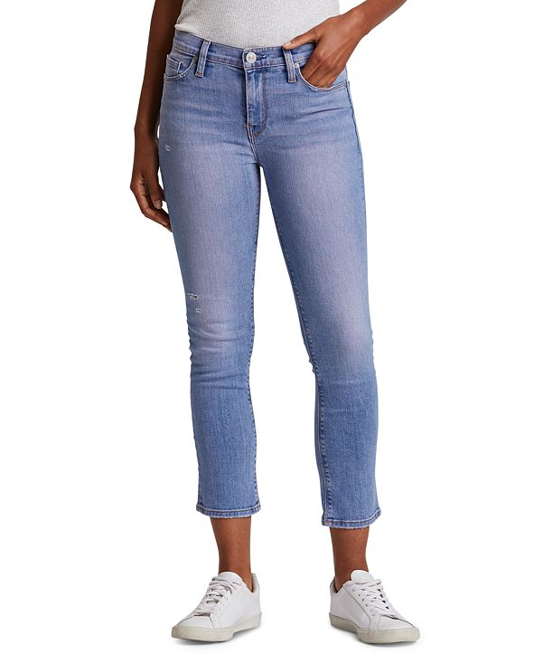 Hudson Jeans Nico Straight-Leg Cropped Jeans