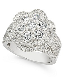 Diamond Flower Cluster Ring (2-1/2 ct. t.w.) in 14k White Gold