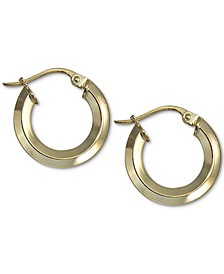"Small Knife Edge Hoop Earrings in 18k Gold-Plated Sterling Silver, 0.59"", Created For Macy's"