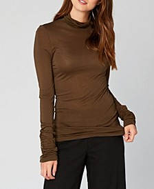 Wearables Button Duff T Neck Top