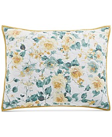 Garden Floral Cotton Standard Sham, Created for Macy's