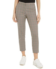 Plaid Elastic-Back Trousers, Created for Macy's