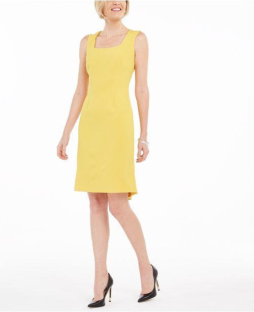 Kasper Flounce Sheath Dress