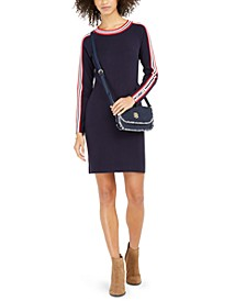 Racer-Stripe Sweater Dress