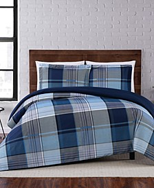Trey Plaid King Duvet Set