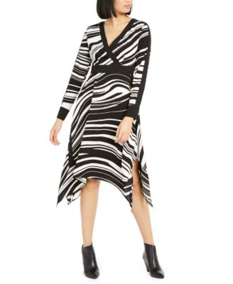 Printed Handkerchief-Hem Midi Dress, Created for Macy's