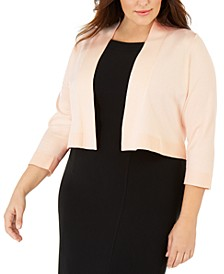 Plus Size Basic Cardigan