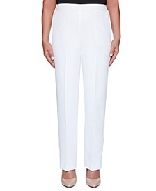 Miami Beach Flat-Front Pull-On Pants