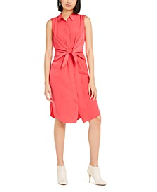 Petite Tie-Front Shirtdress, Created For Macy's