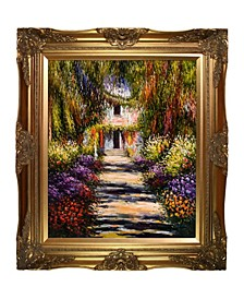 "by Overstockart Garden Path at Giverny by Claude Monet with Victorian Frame Oil Painting Wall Art, 32"" x 28"""