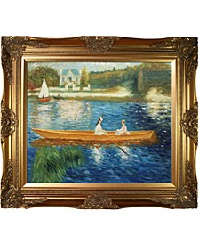 "by Overstockart Boating on The Seine by Pierre-Auguste Renoir with Victorian Frame Oil Painting Wall Art, 32"" x 28"""