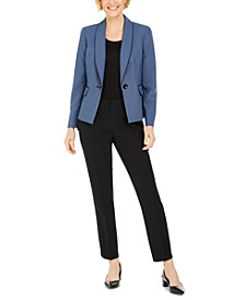 Basketweave-Jacket Pants Suit