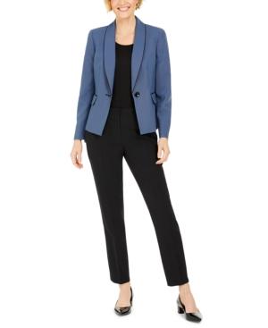 Basketweave-Jacket Pants Suit