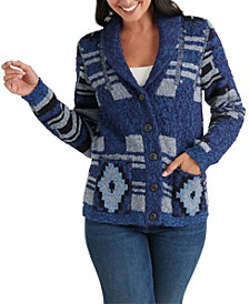 Printed Cardigan Sweater