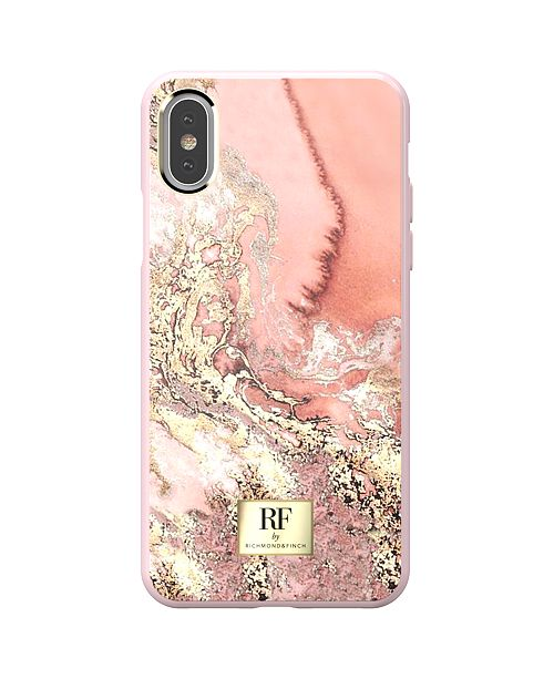 Richmond&Finch Pink Marble Gold Case for iPhone X