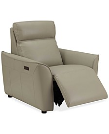 "Sophine 36"" Leather Power Motion Recliner, Created for Macy's"