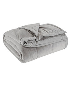 Madison Park Coleman Reversible Plush Down Alternative Blanket, Twin/Twin XL