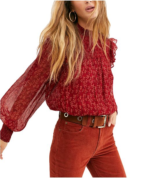 Free People Roma Floral-Print Top