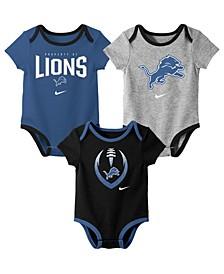 Baby Detroit Lions Icon 3 Pack Bodysuit Set