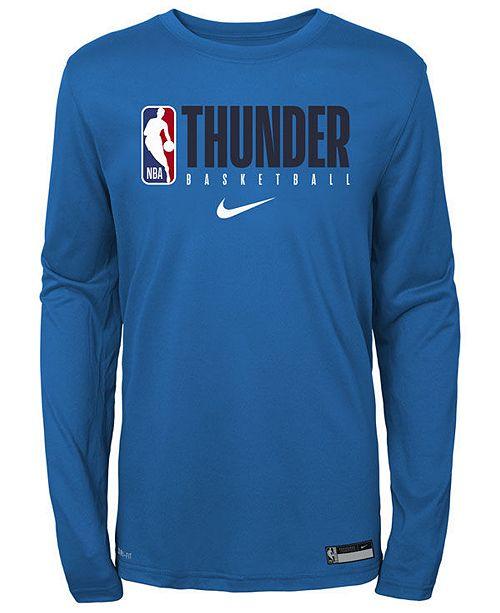 Nike Big Boys Oklahoma City Thunder Practice Long Sleeve T-Shirt