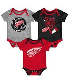 Baby Detroit Red Wings Cuddle & Play Creeper Set