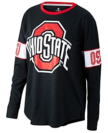 Women's Ohio State Buckeyes Backfield Long Sleeve T-Shirt
