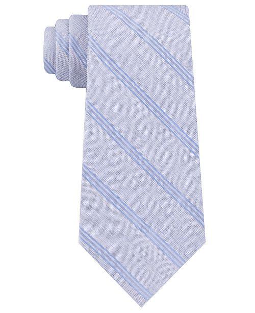 Calvin Klein Men's Stripe Slim Tie
