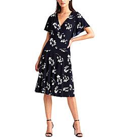 Lauren Ralph Lauren Floral Flutter-Sleeve Dress