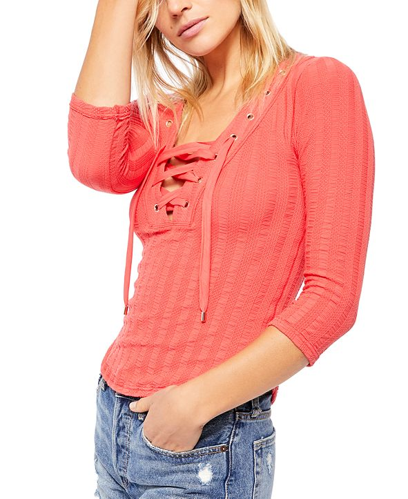 Free People Ice Cold 3/4 Sleeve T-Shirt