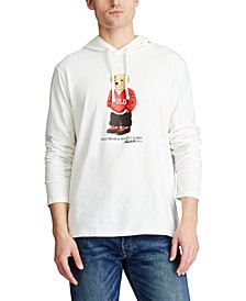 Men's Polo Bear Hooded T-Shirt