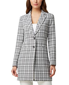Plaid Two-Button Topper Jacket