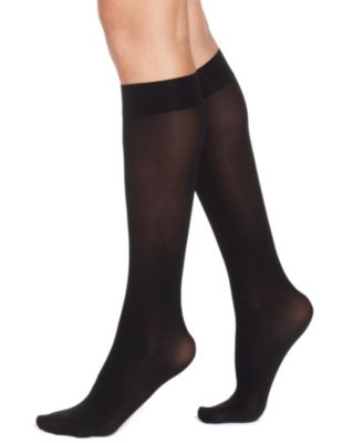 Image of HUE® Women's Soft Opaque Knee High Trouser Socks