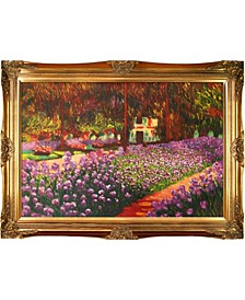 "by Overstockart Artist's Garden at Giverny by Claude Monet with Victorian Frame Oil Painting Wall Art, 44"" x 32"""