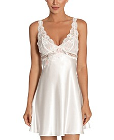 Lace Charmeuse Chemise Nightgown