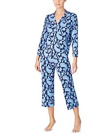 Women's Printed Capri Pajamas Set