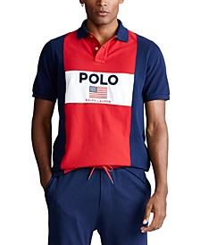 Men's Classic Fit Flag Mesh Polo