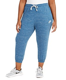 Plus Size Gym Vintage Capri Pants