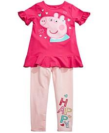 Toddler Girls 2-Pc. Happy Peppa Top & Leggings Set