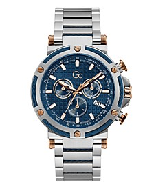 Gc Men's Urban Code Yachting Chrono Stainless Steel Bracelet Watch 44mm