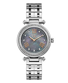 Gc Women's Prime Chic Stainless Steel Bracelet Watch 36mm