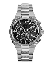 Gc Men's Cable Force Stainless Steel Bracelet Watch 44mm