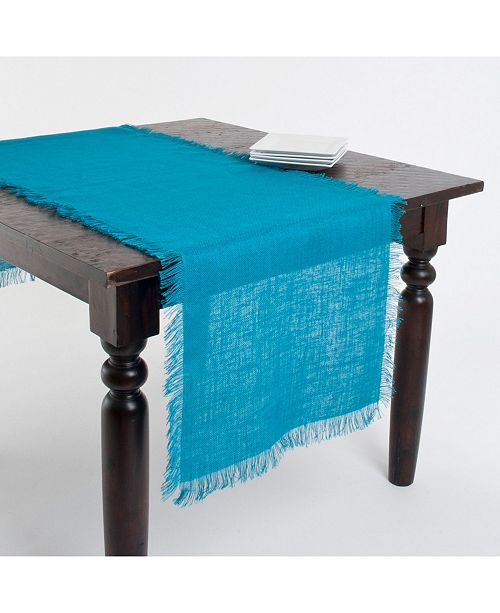 Saro Lifestyle Fringed Jute Tablecloth Or Runner
