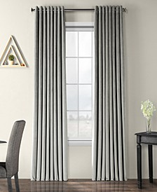 Signature Extra Wide Grommet Blackout Velvet Curtain Panel