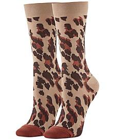 Women's Leopard-Print Trouser Socks