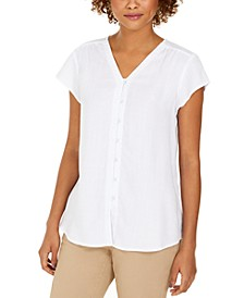 Flutter-Sleeve Blouse, Created For Macy's
