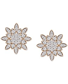 Diamond Snowflake Stud Earrings (1/2 ct. t.w.) in 14k Gold, Created for Macy's