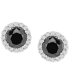 Diamond Halo Stud Earrings (1-1/2 ct. t.w.) in 14k White Gold, Created for Macy's