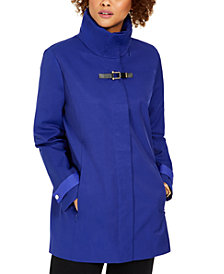 Cole Haan Hooded Buckled Raincoat