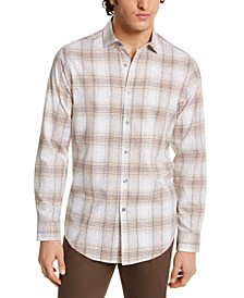 Men's Stretch Printed Dobby Woven Shirt, Created for Macy's