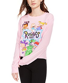 Juniors' Rugrats Graphic Print Long-Sleeve T-Shirt